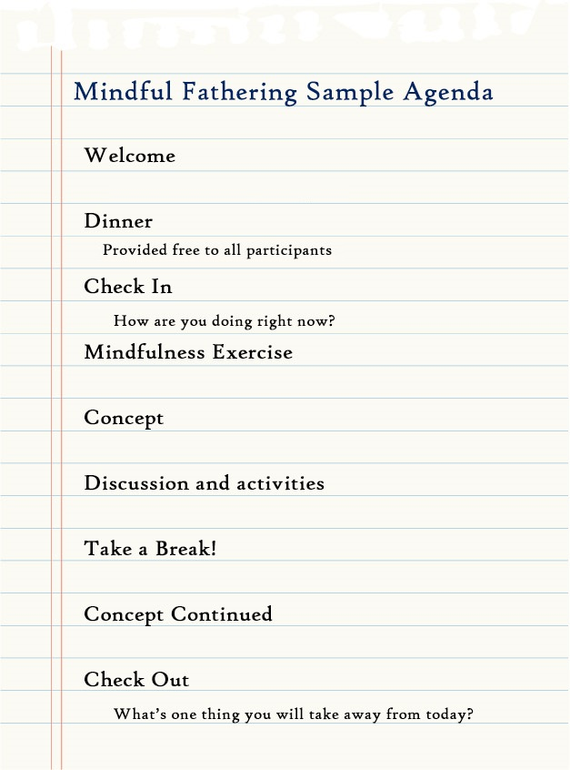 Mindful Fathering sample agenda